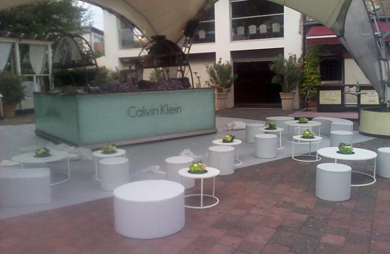 Arredamento floreale per lancio nuovo prodotto Calvin Klein - Vicenza