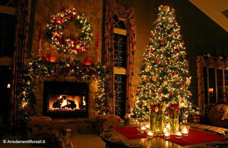Allestimento natalizio hall albergo - Trento