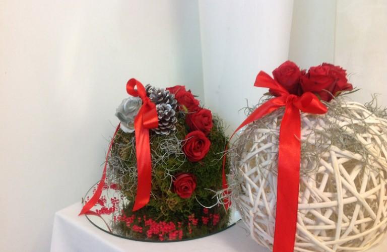 Napoli - allestimento natalizio sala d'attesa